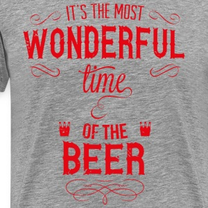 most_wonderful_time_of_beer_r T-Shirts - Men's Premium T-Shirt