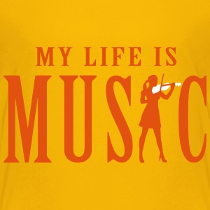my_life_is_music_female_violin_player_12 T-Shirts - Teenager Premium T-Shirt