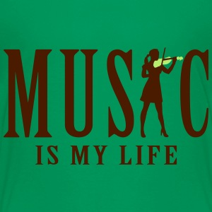 music_is_my_life_female_violin_player_12 T-Shirts - Teenager Premium T-Shirt