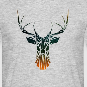 Geometric Tribal Deer T-Shirts - Men's T-Shirt