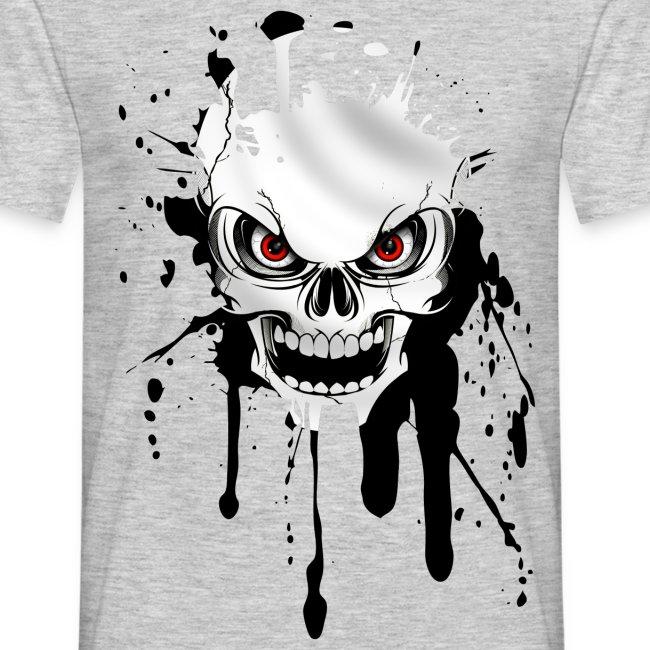 Camisetas Originales Calavera Splash Camiseta Hombre Mannen T Shirt