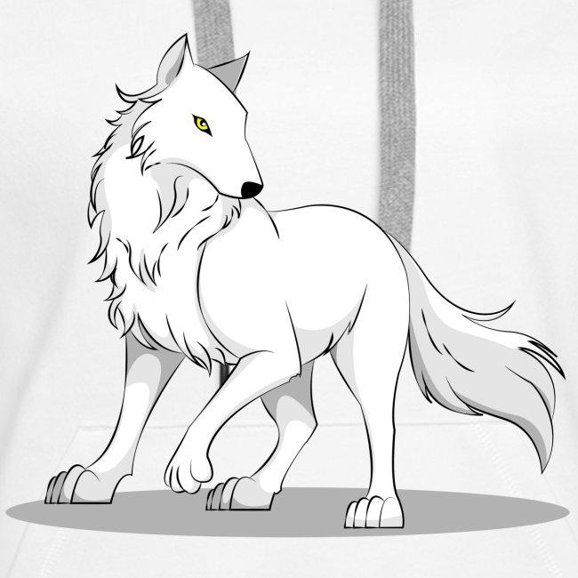 Kapuzenpullover mit Wolf