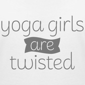 Yoga Girls Are Twisted T-Shirts - Women's V-Neck T-Shirt
