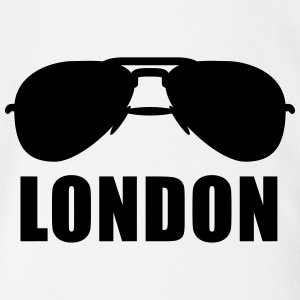Coole London Sonnenbrille T-Shirts - Baby Bio-Kurzarm-Body