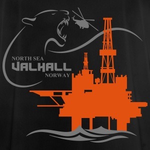 Valhall Oil Rig Platform Noth Sea Norway - Men's Breathable T-Shirt
