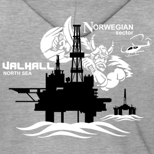 Valhall Oil Rig Platform Noth Sea Norway - Men's Premium Hooded Jacket