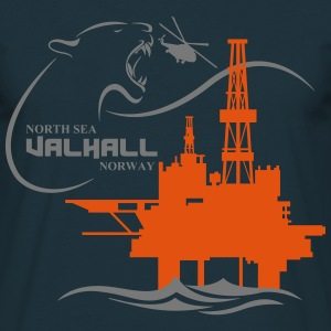 Valhall Oil Rig Platform Noth Sea Norway - Men's T-Shirt