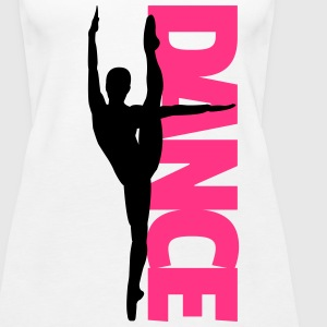 Dance Text Girl  Tops - Vrouwen Premium tank top