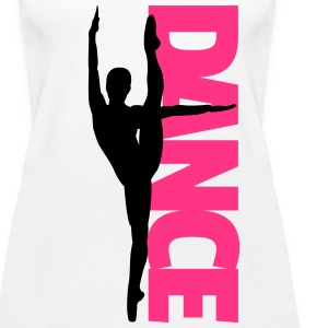 Dance Text Girl  Tops - Women's Premium Tank Top