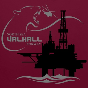 Valhall Oil Rig Platform Noth Sea Norway - Contrast Colour Hoodie