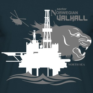 Valhall Oil Rig Platform North Sea Norway - Men's T-Shirt