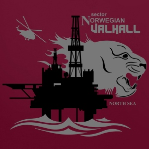 Valhall Oil Rig Platform North Sea Norway - Contrast Colour Hoodie