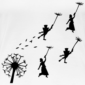 flying dandelion, fairy - Women's Premium T-Shirt