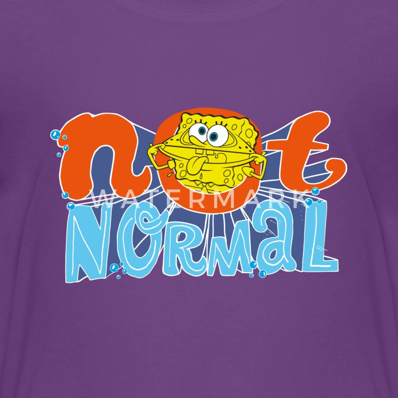 Teenagers' Premium Shirt SpongeBob 'Not Normal' - Maglietta Premium per ragazzi