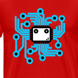 Neon computer chip - Men's Premium T-Shirt