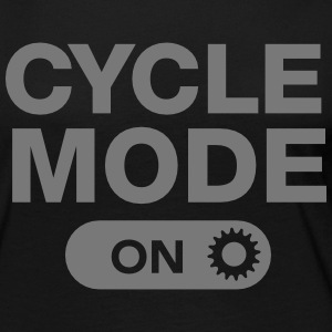 Cycle Mode (On) Langærmede T-shirts - Dame premium T-shirt med lange ærmer