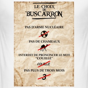 Le choix de Buscarron - Männer Slim Fit T-Shirt