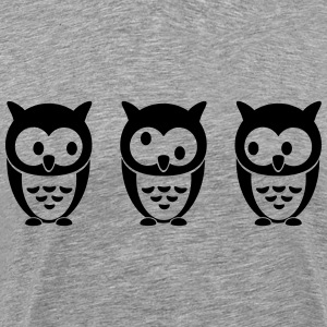 3 Owls T-Shirts - Men's Premium T-Shirt