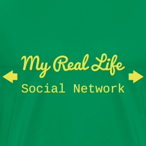 Real Life social network Tee shirts - T-shirt Premium Homme