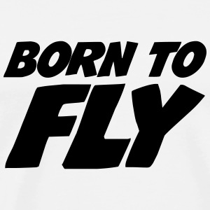 Born to fly [Pilot] T-skjorter - Premium T-skjorte for menn