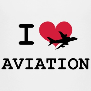 I Love Aviation [Pilot] Shirts - Kids' Premium T-Shirt