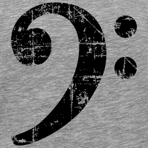 Bass Clef Vintage Music Design T-Shirts - Men's Premium T-Shirt
