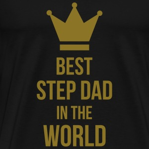 Best Step Dad in the world Magliette - Maglietta Premium da uomo
