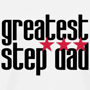 greatest Step Dad T-skjorter - Premium T-skjorte for menn