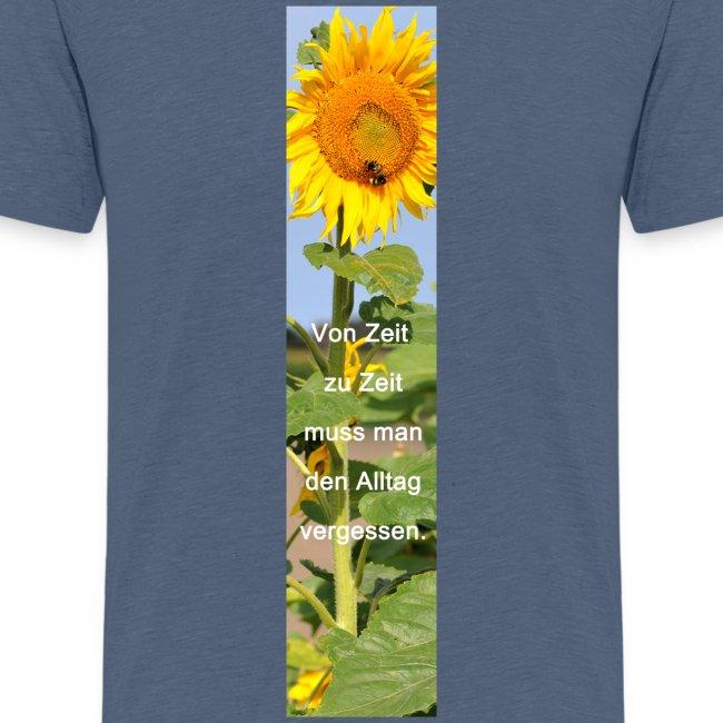 Riesen-Lesezeichen Sonnenblume + Spruch