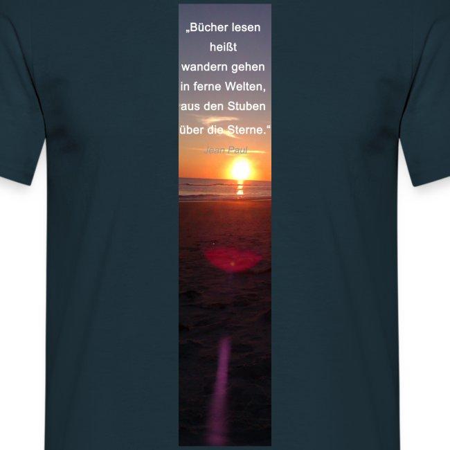 Riesen-Lesezeichen Sonnenuntergang + Meer + Zitat