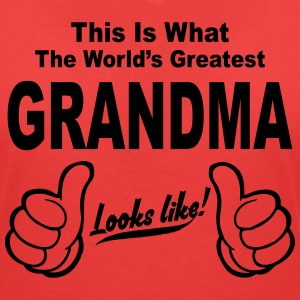 WORLDS GREATEST GRANDMA LOOKS LIKE T-Shirts - Women's V-Neck T-Shirt