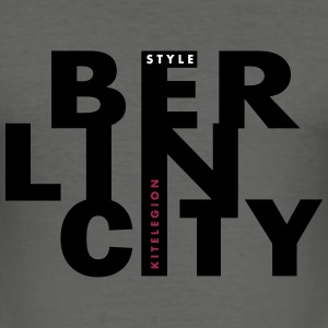Berlin de - Männer Slim Fit T-Shirt