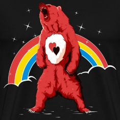 Black Rainbow bear T-Shirts
