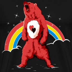 Sort Rainbow bear T-shirts - Herre premium T-shirt