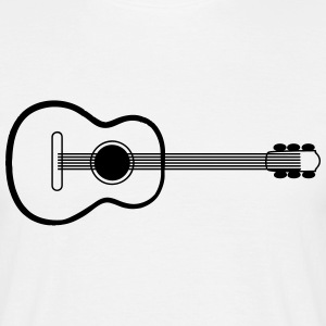 Guitar Acoustic Music Art T-Shirts - Men's T-Shirt