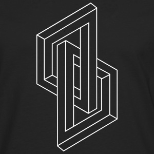 Optical Illusion - Impossible figure - Geometry Langarmshirts - Männer Premium Langarmshirt