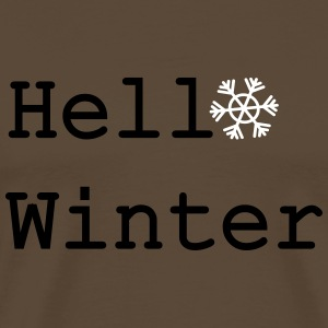 Hello winter Men's Premium T-Shirt - Men's Premium T-Shirt