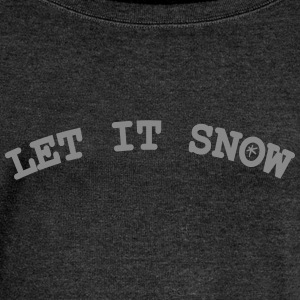 Let it snow Women's Boat Neck Long Sleeve Top - Women's Boat Neck Long Sleeve Top