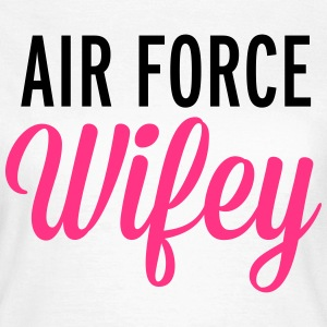 Air Force Wifey  T-shirts - Dame-T-shirt