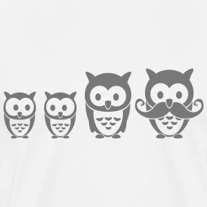 Owl family T-Shirts - Men's Premium T-Shirt