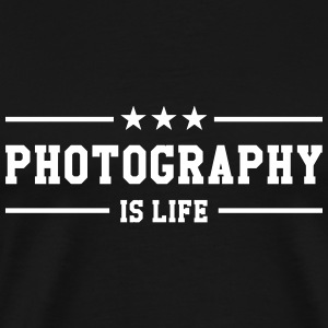 Photography is life T-shirts - Herre premium T-shirt