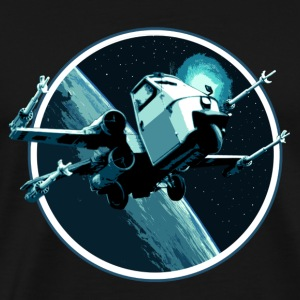 Piaggio ape 50 X-Wing Fighter peoardu idea blu - Men's Premium T-Shirt