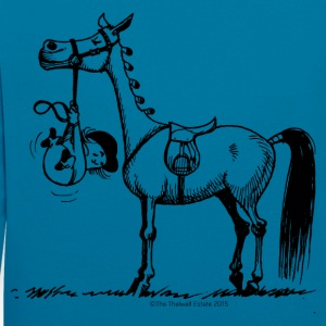 Stubborn Pony Thelwell Cartoon - Contrast Colour Hoodie