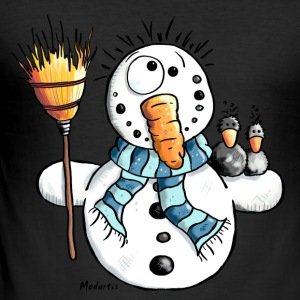 Funny Snowman T-Shirts - Men's Slim Fit T-Shirt