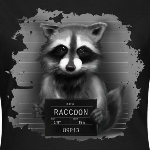Raccoon Mugshot T-Shirts - Women's T-Shirt