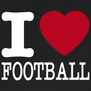 i love football / I heart football  2c Kepsar & mössor - Basebollkeps