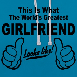 Worlds Greatest Girlfriend Looks Like  Hoodies & Sweatshirts - Contrast Colour Hoodie