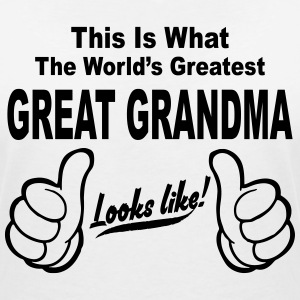 WORLDS GREATEST GREAT GRANDMA LOOKS LIKE T-Shirts - Women's V-Neck T-Shirt