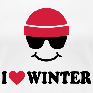 Smiley I love Winter Ski Wintersport T-Shirts - Frauen Premium T-Shirt