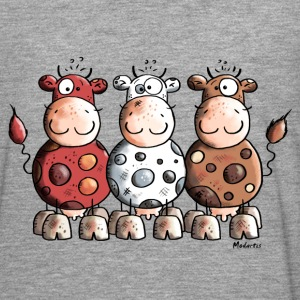 Funny Colourful Cows Long sleeve shirts - Men's Premium Longsleeve Shirt